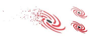 Dot Halftone Galactic Icon disperso royalty illustrazione gratis