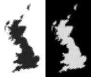 Dot Halftone Great Britain Map libre illustration
