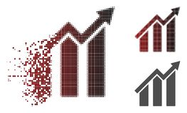 Dot Halftone Growth Chart Icon déchiqueté Illustration Libre de Droits