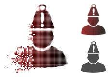 Dot Halftone Head Stress Icon rompu illustration de vecteur