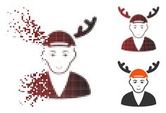 Dot Halftone Horned Boyfriend Icon dissous illustration stock