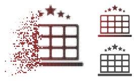 Dot Halftone Hotel Stars Icon destrozado stock de ilustración