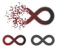 Dot Halftone Infinity Icon dispersé illustration de vecteur