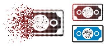 Dot Halftone Iota Banknote Icon fracturado libre illustration