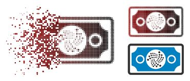 Dot Halftone Iota Banknote Icon rompu illustration libre de droits