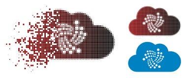Dot Halftone Iota Cloud Icon de dissolution illustration de vecteur