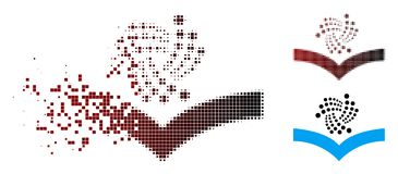 Dot Halftone Iota Knowledge Icon dispersé illustration de vecteur
