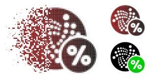 Dot Halftone Iota Percent Icon de disolución stock de ilustración