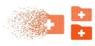Dot Halftone Medical Folder Icon en mouvement illustration stock