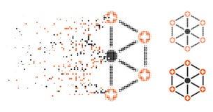 Dot Halftone Medical Network Icon rompu illustration stock