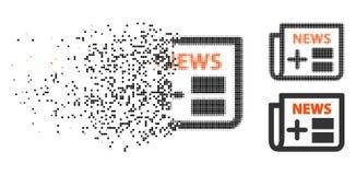Dot Halftone Medical Newspaper Icon en mouvement illustration de vecteur