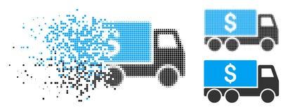 Dot Halftone Money Delivery Icon de disparition illustration de vecteur