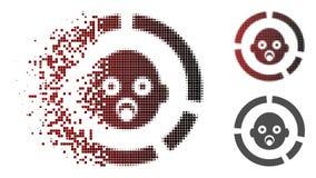 Dot Halftone Newborn Diagram Icon dissous illustration libre de droits