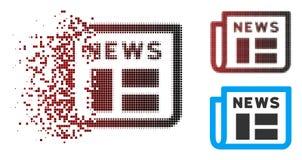 Dot Halftone Newspaper Icon dispersé illustration stock