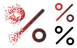 Dot Halftone Percent Icon decomposto Ilustração Stock