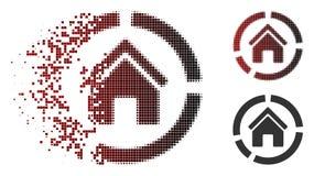 Dot Halftone Realty Diagram Icon cassé illustration de vecteur