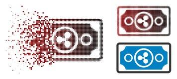 Dot Halftone Ripple Banknote Icon de dissolution illustration libre de droits