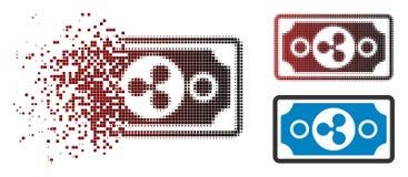 Dot Halftone Ripple Banknote Icon dispersé illustration stock