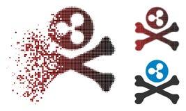 Dot Halftone Ripple Death Icon de disparition illustration libre de droits
