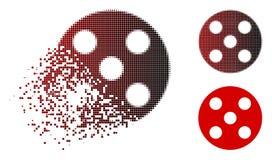 Dot Halftone Round Dice Icon de dissolution Illustration de Vecteur
