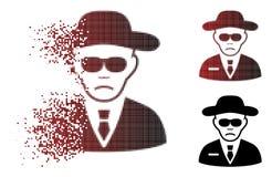Dot Halftone Security Agent Icon disipado Stock de ilustración