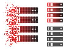Dot Halftone Server Icon dispersé illustration stock