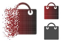 Dot Halftone Shopping Bag Icon dispersé Illustration Libre de Droits