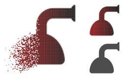 Dot Halftone Shower Head Icon cassé illustration stock