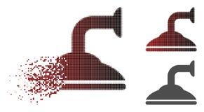 Dot Halftone Shower Head Icon endommagé illustration de vecteur