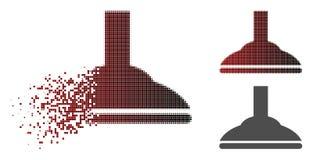Dot Halftone Shower Head Icon réduit en fragments illustration stock