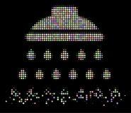 Dot Halftone Shower Icon déchiqueté par lumière illustration de vecteur