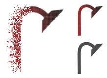 Dot Halftone Shower Pipe Icon cassé illustration libre de droits