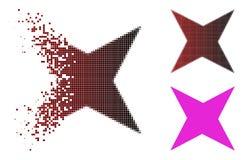 Dot Halftone Sparkle Star Icon déchiqueté illustration de vecteur