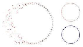 Dot Halftone Star Circle Icon dissous illustration de vecteur