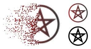 Dot Halftone Star Pentacle Icon déchiqueté illustration libre de droits