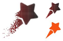 Dot Halftone Starting Star Icon de désintégration illustration stock