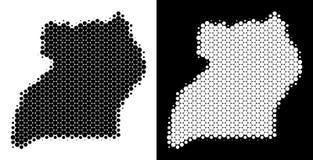 Dot Halftone Uganda Map vector illustratie