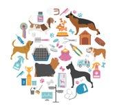Dot Icon Set Soin de Heatlh, vétérinaire, nutrition, exposition Photographie stock libre de droits