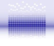 Dot jump and reflection Royalty Free Stock Photos