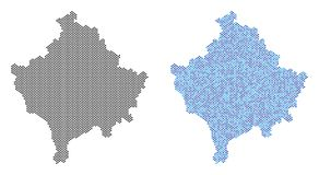 Dot Kosovo Map Abstractions Stock Illustratie