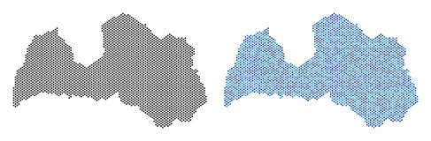 Dot Latvia Map Abstractions Vector Illustratie