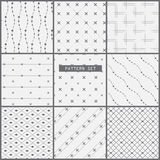 Dot and line pattern set Royalty Free Stock Photography