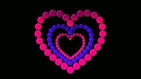 Dot love stock video