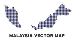 Dot Malaysia Map stock illustratie