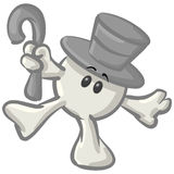 Dot Man with Hat and Cane Dancing Stock Photography