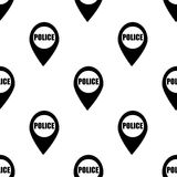 Dot on the map of the policeman icon. Element of Oil icons for mobile concept and web apps. Pattern repeat seamlessdot on the map. Of the policeman icon can be Stock Images