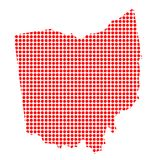 Dot Map rojo de Ohio libre illustration