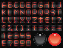 Dot-matrix font Royalty Free Stock Images