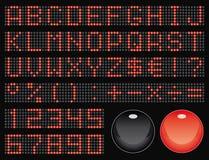 Dot-matrix Font Royalty Free Stock Images