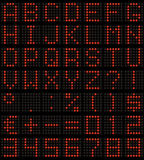 Dot-matrix font Stock Photos